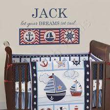 nautical boys room decal personalized name wall decal for baby