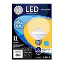 ge 37270 led g25 globe light bulb 7 watts clear ebay