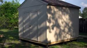 10 x10 heartland statesman shed installed and painted youtube