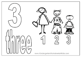 Printable Number 3 Coloring Pages