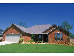 Brick Home Ranch Style House Plans Homes Craftsman Bedrooms Floor Plan