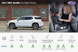 Suvs With Captain Chairs Second Row 2017 gmc acadia three rows car seat check news cars com