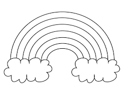 Preschool Coloring Page Rainbow Pages For Led Simple And Easy Method