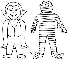 Mummy Vampire And Are Best Friend Coloring Page