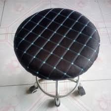 Round Home Bar Stool Chair Cover Slipcover Grid Black Grid (Blue) -35cm Strands By Waverly One Piece Chair Slipcover For Dayton Arm Host Chairs Ethan Allen Spandex Elastic Floral Print Letter Pattern Slipcovers Stretch Subrtex 2piece Stretchable Wing Back Cotton Herringbone Ding Prting Modern Removable Antidirty Kitchen Seat Case Cover Banquet Set Of 4 Grey Home Fashion Designs Teal Jersey Four Recling Chair T Cushion Gray Sure Fit Armchair Covers Roomdark 6 Velvet Large Surprising New Design Of Armless With