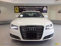 2012 Audi A8 L 4 2 quattro in Glacier White Metallic photo 2