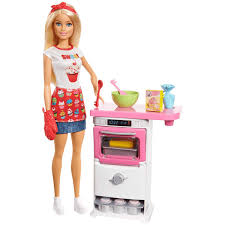 Buy Barbie Bakery Chef Doll and Playset Multi Color Online at Low