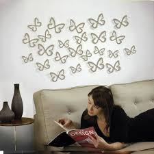 distinctive ways using butterfly wall decorations to enliven the