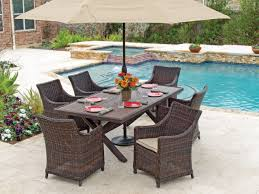 Biscayne 7 Pc. Aluminum & Woven Resin Wicker Dining Set - Fortunoff ... Outdoor Wicker Ding Set Cape Cod Leste 5piece Tuck In Boulevard Ipirations Artiss 2x Rattan Chairs Fniture Garden Patio Louis French Antique White Back Chair Naturally Cane And Plantation Full Round Bay Gallery Store Shop Safavieh Woven Beacon Unfinished Natural Of 2 Pe Bah3927ntx2 Biscayne 7 Pc Alinum Resin Fortunoff Kubu Grey Dark Casa Bella Uk Target Australia Sebesi 2fox1600aset2