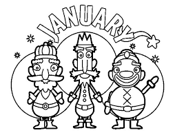 January Coloring Page