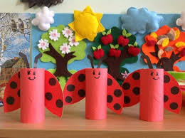 Valentines Day Crafts For Kids Reused Toilet Paper Ladybugs Creative Decorating Ideas