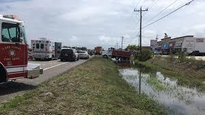 100 Dump Truck Crash Truck Crash In Cape Coral Slows Traffic On Pine Island Road