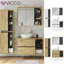 details zu vicco badmöbel viola spiegelschrank hochschrank waschtischunterschrank hängend