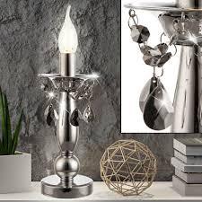 tischleuchten chrom tisch le kerzenständer design leuchte