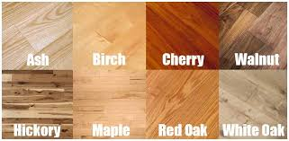 Color Grid For Different Types Of Hardwood Flooring