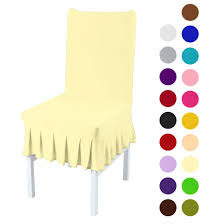 Stretchy Spandex Ruffled Skirt Short Dining Room Chair Covers Washable  Removable Seats Protector Slipcovers Light Yellow Sure Fit Ballad Bouquet Wing Chair Slipcover Ding Room Armchair Slipcovers Kitchen Interiors Subrtex Printed Leaf Stretchable Ding Room Yellow 2pcs Ektorp Tullsta Chair Cover Removable Seat Graffiti Pattern Stretch Cover 6pcs Spandex High Back Home Elastic Protector Red Black Gray Blue Gold Coffee Fortune Fabric Washable Slipcovers Set Of 4 Bright Eaging Accent And Ottoman Recling Queen Anne Wingback History Covers Best Stretchy Living Club For Shaped Fniture