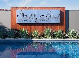 Wall Art Ideas Design Swimming Exterior Pool Great Themes Outdoor Pinterest Earth Homewares Ocean Plant Superb Metal Decoration