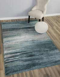 amazon com teal gray stripes traditional distressed 5 x 8 5