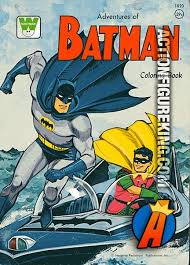 Vintage 1966 82 Page Coloring Book Adventures Of Batman From Whitman