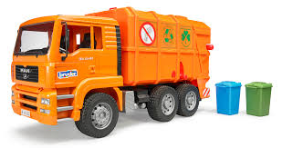Bruder 02760 MAN TGA Garbage Truck Orange New 2017 Scale 1:16 Made ...