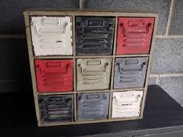 Vintage Industrial Metal Cabinet With 9 Drawers Retro Style Storage Chest