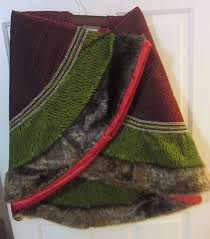 Dillards Curtains And Drapes by Trimsetter Gorgeous Tree Skirt Burgundry Green Faux Fur