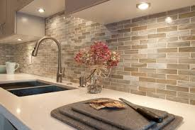 lunada bay marbleized 1 x 4 glass backsplash