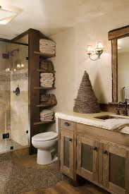 Rustic Wall Decor Ideas Bathroom With Ceiling Light Sconce