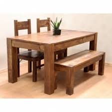 Dining Table With Two Chairs And One Bench