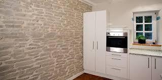 steinwand küche wandgestaltung wandverkleidung steinpaneele