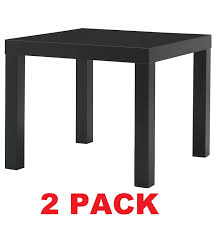 Ikea Sofa Table Lack by Amazon Com Ikea Table End Side Black 2 Pack Lack Kitchen U0026 Dining