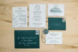 Deep Green Wedding Invitation Suite Envelopes Rsvp Card Reception Couples Monogram Maine