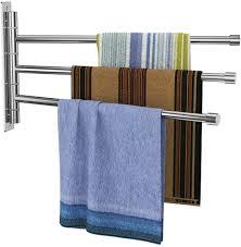 handtuchhalter dreiarmig edelstahl gebürstet handtuchstange 34cm 180 drehbar wandmontage 5kg belastung für badezimmer und küche