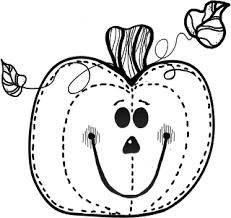 Pumpkin black and white pumpkin border black and white clipart