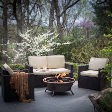 Patio Conversation Sets With Fire Pit by Fire Pit Table Set Set Innovation For Warm Dinner U2014 Bitdigest Design