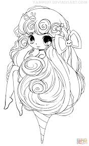 Full Size Of Coloring Pages Kids Chibi Cotton Candy Girl Page Barbie