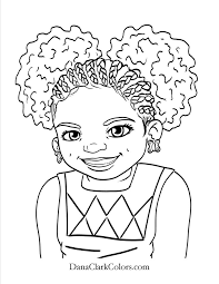 Black Kids Coloring Page