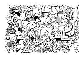 Doodle Art Coloring Pages To Print