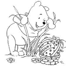 Pooh Looking For Honey On Easter
