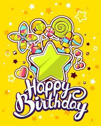 Hand drawn happy birthday illustration design vector 01