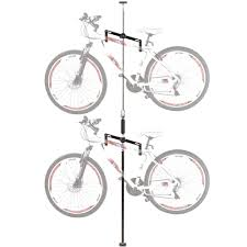Floor To Ceiling Tension Pole by 2 Bike Vertical Tension Bicycle Storage Stand Discount Ramps