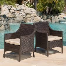 Orchard Outdoor Brown Wicker Dining Chair W/ Cushion (Set Of 2 ... Outdoor Wicker Ding Set Cape Cod Leste 5piece Tuck In Boulevard Ipirations Artiss 2x Rattan Chairs Fniture Garden Patio Louis French Antique White Back Chair Naturally Cane And Plantation Full Round Bay Gallery Store Shop Safavieh Woven Beacon Unfinished Natural Of 2 Pe Bah3927ntx2 Biscayne 7 Pc Alinum Resin Fortunoff Kubu Grey Dark Casa Bella Uk Target Australia Sebesi 2fox1600aset2