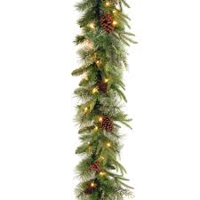 Home Depot Ge Pre Lit Christmas Trees by Ge 36 Ft Holiday Classics Artificial Garland With 100 Clear