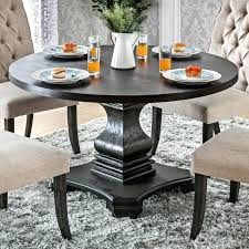Circle Dining Room Table Sets Furniture Of Antique Black Wood Traditional Farmhouse Style Pedestal Base Round