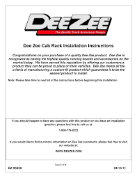 Dee Zee Cab Rack Installation Instructions   Dee Zee DZ95058TB User ... Dee Zee Gmc Sierra 1500 2015 Blue Label Standard Single Lid Red Black Alinum Gull Wing Tool Box For Full Size Dz 6160nb Dee Narrow Crossover Tread Mid Light Automotive Exterior Accsories Truck Dz86700 Heavyweight Tailgate Mat 86700 Bed Mats Assist Topperking Providing All Of Headache Rack Steel Alinium Mesh Autoaccsoriesgaragecoms Blog Easy Ship Toolbox Assembly Matskid Dz86973 Titan Equipment And Specialty Series Top Sider Dz59
