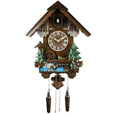 Wall Clock In Living Room Unique Clocks Cuckoo Telling Time Wood Inch Painting