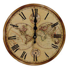 Item 2 Rustic Antique Clock Wall Vintage Style Wooden Round Clocks Large Art Home Decor