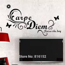 carpe diem englisch zitat schmetterling abnehmbare wasserdichte wandtattoo home schlafzimmer pvc vinyl diy kunst dekor sofa tv hintergrund