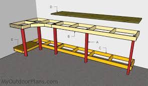 garage workbench plans myoutdoorplans free woodworking plans