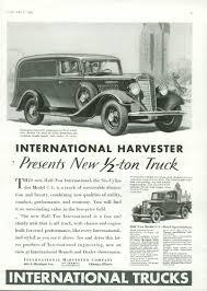 A New 1/2-ton Truck International Panel Truck & C-1 Pickup Ad 1934